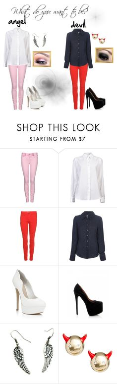 """""""What do you want to be?"""" by chobotnicka ❤ liked on Polyvore featuring Replay, Holmes & Yang, Burberry, 10 Crosby Derek Lam, Carvela Kurt Geiger, ASOS, angel and devil"""