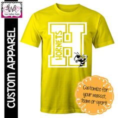 custom apparel custom block letter school spirit t shirt