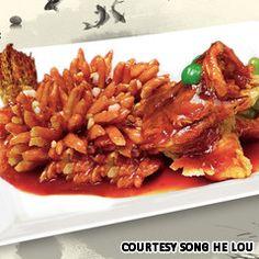 song shu gui yu (Squirrel-like mandarin fish) best known in the Jiangsu province.