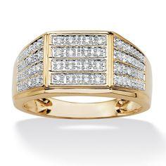 <li>Diamond ring</li><li>Two-tone 18-karat gold over sterling silver jewelry</li><li><a href='http://www.overstock.com/downloads/pdf/2010_RingSizing.pdf'><span class='links'>Click here for ring sizing guide</span></a></li>