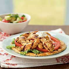 Weight loss starts in the kitchen. Try the Cooking Light Diet  Shawarma is a Middle Eastern dish of garlicky meat or poultry served on pitas. From start to finish, you can have this on the table in 45 minutes.  Save any leftover yogurt-lemon sauce as a great dip for pita bread or cucumber. View Recipe: Chicken Shawarma
