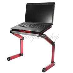 Laptop Notebook PC Table Desk Sofa Bed Folding Adjustable Stand Cooling Fan US | eBay