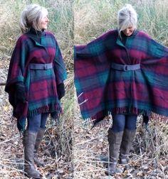 Csinos meleg téli poncsó (kabát) gyapjú pokrócból egyszerűen / Mindy -  kreatív ötletek és dekorációk minden napra
