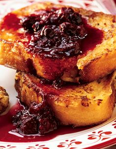Berry French Toast       Vanilla-Maple French Toast with Warm Berry Preserves Photo  at Epicurious.com