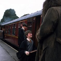 """I was terrified...mainly because that day there were loads and loads of extras and it was the prospect of all of them knowing who I was, which was quite frightening. I was trying to blend in."" - Daniel Radcliffe on the first day of filming #HarryPotter #DanielRadcliffe"