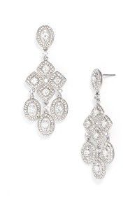 Chandelier Earrings - Always stunning with strapless dresses in black or dark blue.  Chandelier's also work well with Red!