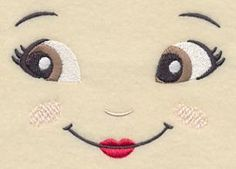 Machine Embroidery Designs at Embroidery Library! - Doll Faces