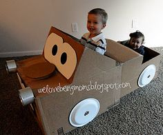 Cardboard Mater w/Tutorial! Saving for a rainy day! Diy Craft Projects, Projects For Kids, Crafts For Kids, Craft Ideas, Fun Ideas, Easy Crafts, Cardboard Car, Cardboard Box Crafts, Creative Activities For Kids