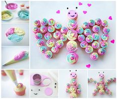 Amazing Rainbow Butterfly Cupcake. (y)  Check out ->http://wonderfuldiy.com/wonderful-diy-aamazing-butterfly-cupcake/