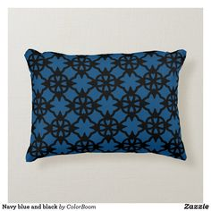 Navy blue and black accent pillow Navy Blue Cushions, Navy Blue Throw Pillows, Soft Pillows, Accent Pillows, Decorative Pillows, Blue Living Room Decor, Blue Home Decor, Home Decor Bedroom, Living Room Cushions