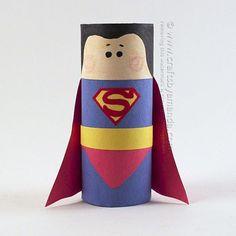 Cardboard Tube Superman Craft