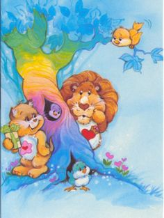 I love this one, care bear cousins Cute Cartoon Characters, Cartoon Gifs, Care Bears Vintage, Old School Cartoons, Rainbow Brite, Braveheart, Retro, Cousins, My Little Pony