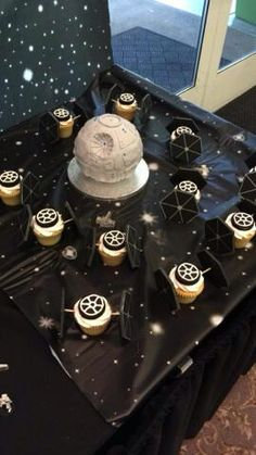 Star Wars cupcakes the death star was little Bens smash cake