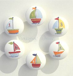 Baby Boat Nautical Drawer Knobs