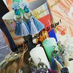 Orecchini nappe boho stile creazioni artigianali la serie #sabinanosmokingsibijou #unicisabinanosmokingsibijou