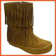 14bc890dfe05 Ladies Smoky Mountain Wisteria Double Fringe Leather Boots - Brown ...