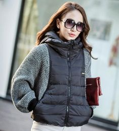 2016 ladies winter outerwear knitwear bat sleeve short duck down hat Jacket Coat Winter Jackets Women, Coats For Women, Clothes For Women, Kleidung Design, Look Blazer, Knit Jacket, Fashion Outfits, Womens Fashion, Fashion Ideas
