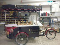 "Tekneitalia - Gelateria : ""Calabrese Eiscaffee"" by tekneitalia made in italy www.tekneitalia.com - Baden-Württemberg, Germany - Model: Procopio gelato cart (ice cream cart - carretto gelato)"