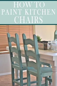 7 Mistakes People Make Painting Kitchen Chairs - Painted Furniture - Chair Design Painting Kitchen Chairs, Painted Kitchen Tables, Painted Chairs, Kitchen Paint, Basement Kitchen, Wooden Chairs, Kitchen Redo, Kitchen Ideas, New Furniture