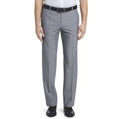 Men's Van Heusen Flex Straight-Fit No-Iron Dress Pants, Size: 48X34, Silver