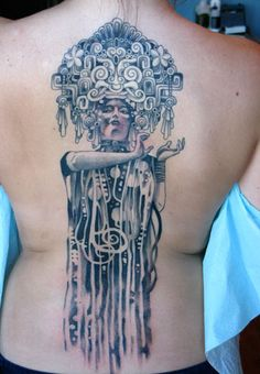 Corey Crowley at Atlas Tattoo - very cool Mayan inspired Klimt meld    corey22-copy by atlastattoo, via Flickr