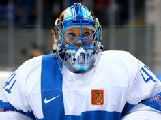Noora Raty of Finland during the Women's Ice Hockey Preliminary Round Group A - Canada vs. Olympic Hockey, Women's Hockey, Goalie Mask, Olympic Committee, Winter Olympics, Finland, Football Helmets, Masks, Sporty