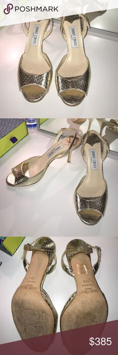 I just added this listing on Poshmark: ‼️Jimmy Choo‼️Gold Strappy Backless Open Toe Heel. #shopmycloset #poshmark #fashion #shopping #style #forsale #Jimmy Choo #Shoes