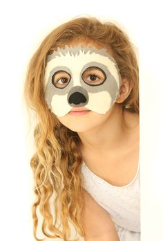 Ken the sloth felt mask for pretend play costume sloth for Sloth mask template