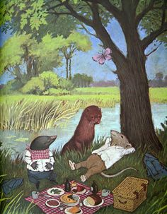 The Wind in the Willows Kenneth Grahame Unabridged Edition Illustrated by Dick Cuffari 1967 Photo Wall Collage, Fairy Art, Cute Illustration, Cute Drawings, Fantasy Art, Fairy Tales, Cool Art, Kenneth Grahame, Cartoon