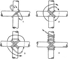 Diagonal lashing · Lashing BambooBamboo FenceCrafted ...