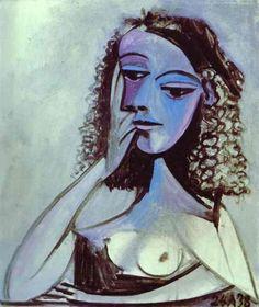 "Pablo Picasso. ""Nusch Éluard"". 1938. Oil on canvas. https://fbcdn-sphotos-h-a.akamaihd.net/hphotos-ak-ash4/262394_470501409647609_1013670603_n.jpg"