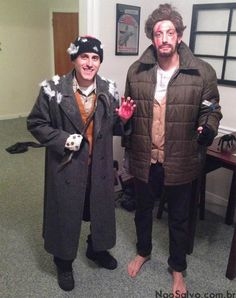 "Harry and Marv from ""Home Alone"" for Halloween costumes."
