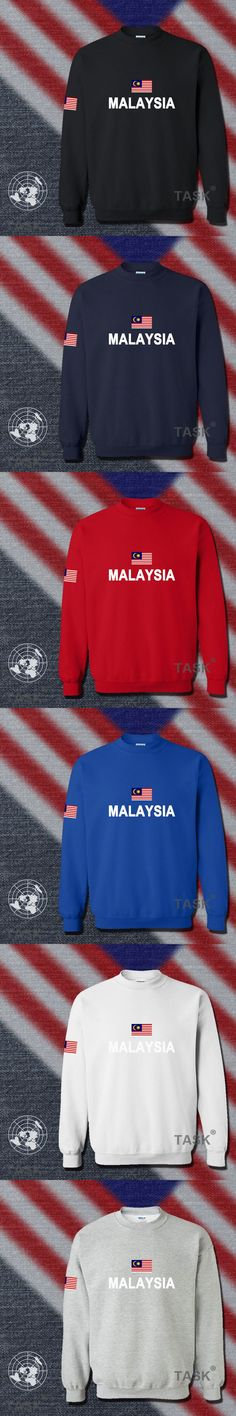 Malaysia hoodies men sweatshirt polo sweat new hip hop streetwear footballes jerseyes tracksuit nation Malayan flag MY Malay
