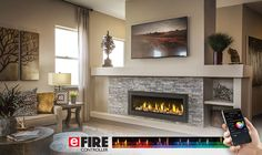 Napoleon Vector 50 Gas Fireplace LV50 with beach wood