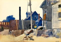 Edward Hopper 1882 - 1967 House On The Shore