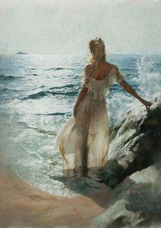 ": ""  Vicente Romero Redondo ( Madrid, 1956 - ) oil on canvas        """