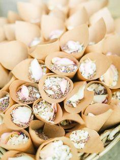 Seed and rose petal wedding grand exit | Romantic blush wedding at Rudding Park in Harrogate via @rockmywedding