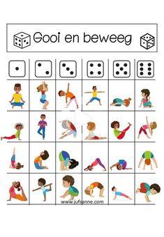 Poses Yoga Enfants, Kids Yoga Poses, Yoga For Kids, Exercise For Kids, Gross Motor Activities, Gross Motor Skills, Physical Activities, Preschool Activities, Preschool Playground