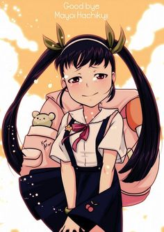 Tags: Anime, Backpack, Monogatari, Hachikuji Mayoi, Pixiv Id 3653134