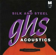 GHS Strings Acoustic guitar Set (Medium, Silk And Steel) by GHS. $7.79. GHS Acoustic Guitar set Silk and Steel Medium Gauge GHS Silk and  Steel acoustic guitar strings are wound with silver-plated copper wire over a silk and steel core to yield a sweet, mellow tone with a soft feel. Easy on the fingers. Excellent for beginners. Silk & Steel strings are perfect for accompanying the singing voice.. Save 46%!