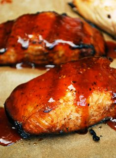Grilled Teriyaki Salmon by theliveinkitchen #Salmon #BBQ #Teriyaki