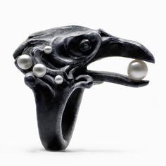 Crow Ring by MacabreGadgets