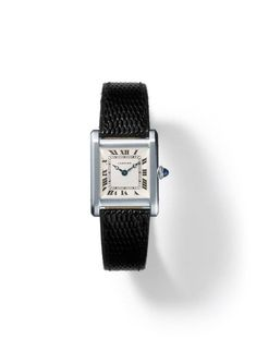 A Cartier Tank circa 1920, in white gold and platinum. Photo by Nick Welsh, Cartier Collection © Cartier