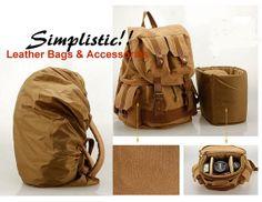 Canvas  Backpack / Camera Bag/ School Bag