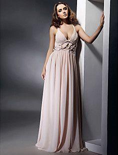 Grecian Goddess Gown! Sheath/Column V-neck Floor-length Chiffon Evening Dress insp... – USD $ 98.99