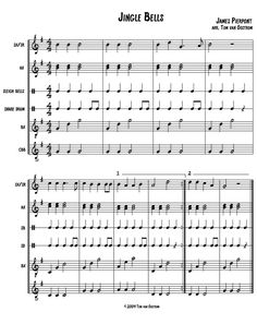 Jingle Bells!  Arrangements for the Orff-Schulwerk classroom!!