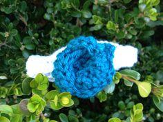 Grey And Turquoise Crochet Headband on Etsy, $7.00