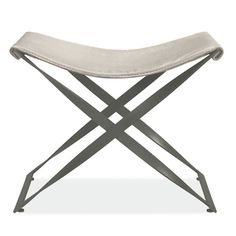 """24""""w 15""""d 18""""h Room & Board - Karr Stool or spice.  This is the grey base option"""