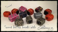 Polymer clay tutorial - Sweet hollow beads