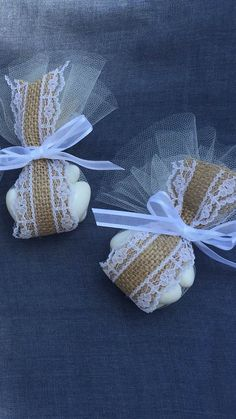 Burlap. Lace and Tulle - Jordan Almond/Koufeta Wedding/Baptism Favor. Wedding/Baptism Koufeta Bombonieres